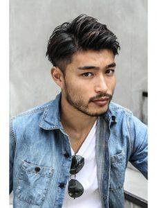 40代男性ミディアムヘアスタイル